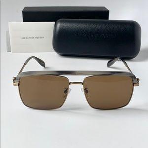Alexander McQueen Sunglasses AM0258S Bronze/Brown